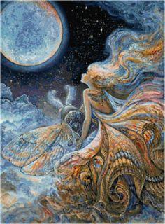 Psychedelic Butterfly Fairy Moon Fantasy by HandmadesByMarcia, $3.00