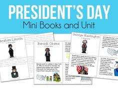 President's Day Mini Books and Unit plus a great FREEBIE for your President's Day celebrations!!!