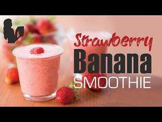 Strawberry Banana Smoothie Recipe Made Using A Vitamix Or Blendtec Blender