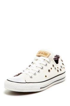 76d4553a5232 Chuck Taylor Women s White Grommet Ox Sneaker by Converse on  HauteLook  Studded Converse