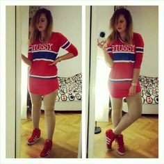 Stussy red dress adidas originals wedges margiela leggins