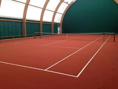 Indoor tennis court. Ready to play?