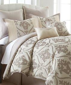 Another great find on #zulily! Beige Sofia Eight-Piece Comforter Set #zulilyfinds