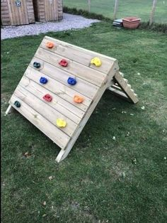 Sturdy, collapsible Climbing wall for children Suitable for indoors and outdoors 100 cm wide Roughly 70 high (when in use) Toddler Climbing Wall, Kids Rock Climbing, Diy Climbing Wall, Kids Outdoor Play, Outdoor Play Areas, Backyard For Kids, Diy For Kids, Outdoor Games, Childrens Play Area Garden