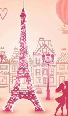 ~Katarina~Love in paris. Beautiful Paris, I Love Paris, Paris Images, Paris Photos, Cute Wallpapers, Wallpaper Backgrounds, Arte Do Mickey Mouse, France Eiffel Tower, Paris Wallpaper