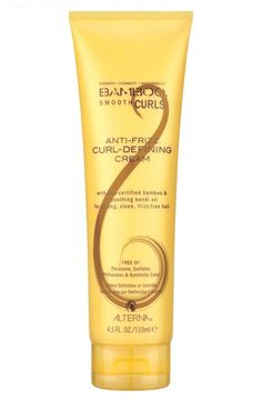 ALTERNA® 'Bamboo Smooth Curls' Anti-Frizz Curl Defining Cream at Nordstrom.com. Bamboo Smooth Curls Anti-Frizz Curl Defining Cream - Fitness Magazine Recommendation