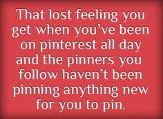 that lost feeling...