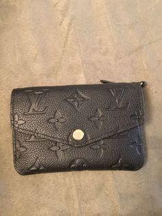666177024aad Louis Vuitton Key Cles Pouch Empreinte Noir Black Wallet Coin Purse France
