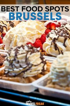 If you're searching for the best waffles in Brussels, I've got you covered with this guide of where to eat in Brussels and Brussels best spots for waffles, beer, chocolate and more in the city. Don't miss these places to eat in Brussels to experience the famous Belgian dishes | best waffle brussels | brussels street food | brussels belgium food | brussels best restaurants