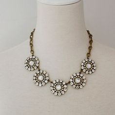 Anthropologie Pearl Necklace | Best Anthropologie Bib Necklace Products on Wanelo