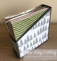 """Paper Daisy Crafting: Stamp Around UK October Video Hop - 6"""" x 6"""" paper storage box Paper Daisy, Paper Storage, 3d Projects, Cardmaking, Stampin Up, Decorative Boxes, October, Paper Crafts, Create"""