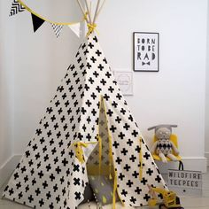 Cross Print TeePee with matching storage bag – Kids Rugs Playroom Modern Kids Furniture, Bedroom Furniture Design, Kids Bedroom Furniture, Bedroom Ideas, Kids Play Teepee, Childrens Teepee, Child Teepee, A Little Lovely Company, Stylish Bedroom