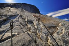 Death by Rock: Half Dome, Yosemite National Park, California    If you're ever feeling like watching a little game of man versus gravity, just head right up Half Dome, inside Yosemite National Park. According to Timberline Trails, the Dome's 400-foot rocky face slopes at a 45-degree angle, with footholds few and far between. Four hikers have died since 2006 from fatal falls off the vertiginous Dome, states CNN. Photo: Peter McCarthy/Creative Commons via Flickr