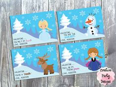 Snow Princess Valentine Cards $5.00 and up - Save 30% today by entering Coupon Code PIN30 at Checkout!