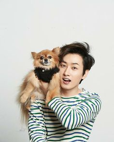 Eunhyuk with Choco...so cute ^-^