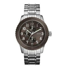 Guess Men's U13604G1 Silver Stainless-Steel Quartz Watch with Brown Dial GUESS. $78.24. Chronograph Display. Steel Bracelet Strap. Water Resistance : 10 ATM / 100 meters / 330 feet. Save 42% Off!