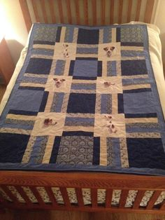 Jack Russell Throw Quilt