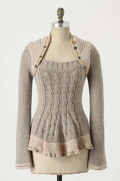Anthropologie - Pinafore Pullover