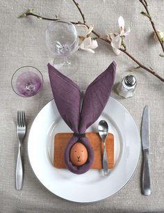 Idee da fare con i tovaglioli - Decorare la tavola con i tovaglioli per un menù in festa.