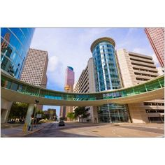 Houston Cityscape from Bell and Smith Street Photography by Eazl, Size: 24 x 16, Brown