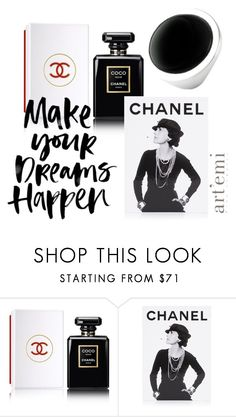 """Black Dreams"" by artemi-fine-jewelry ❤ liked on Polyvore featuring Chanel and Assouline Publishing"