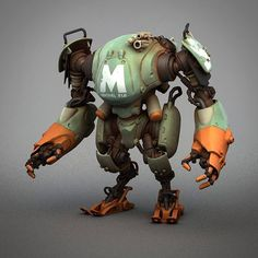 Pascal blanché scifi robots cyborgs & mecha in 2019 - robot Character Concept, Character Art, Arte Robot, Cool Robots, Rat Fink, Robot Concept Art, The Legend Of Zelda, Robot Design, 3d Models