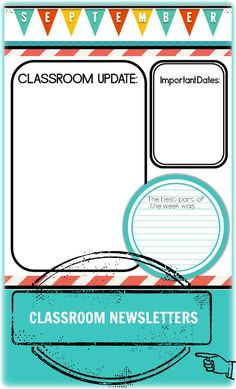 Customizable classroom newsletter templates. (Two styles) $