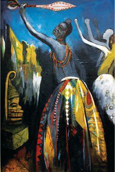 Royal Dance, Benin by BEN ENWONWU