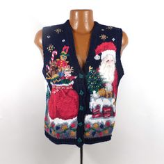 Ugly Christmas Sweater Vintage 1980s Tacky by purevintageclothing