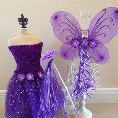 Purple Tutu, Purple Fairy Costume, Purple Princess Dress, Tinkerbell Wings, Tinkerbell Tutu, Tinkerbell Costume, Purple Princess, Tinkerbell | CatchMyParty.com