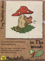 Mouseloft In The Woods Counted Cross Stitch Kit - Tiny Toadstool Mouse