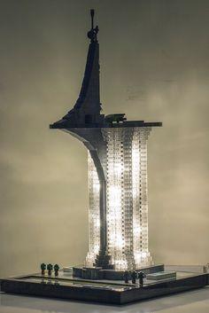 Nexacore Building illuminated