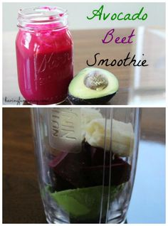 Avocado Beet Smoothie from Having Fun Saving and Cooking.