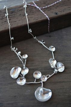 Silver Cluster Necklace by johnnyninos, via Flickr