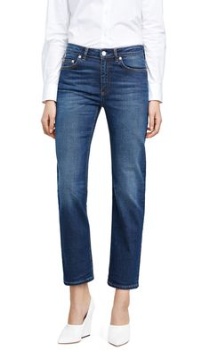 Love these blue jeans from Acne!