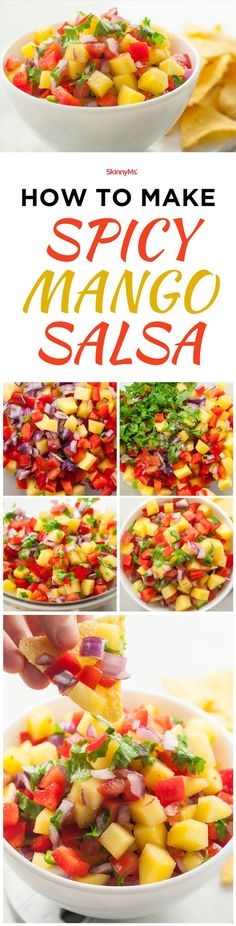 How to Make Spicy Mango Salsa! #cleaneating #cleaneats