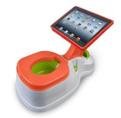 iPotty with Activity Seat for iPad. This is hilarious! We've been potty training this week and I came across this online. I didn't buy it, but we did reward little A with time on the iPad when he was willing to sit on the potty. Potty Training Seats, Potty Seat, Potty Chair, Toilet Training, Home Depot, Digital Detox, Mobiles, Homemade Home Decor, Baby Hacks