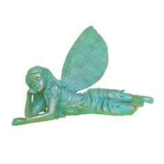 Found it at Wayfair - Suffolk Fairy Olivia Statue Fairy Statues, Fairy Figurines, Angel Statues, Garden Statues, Metal Wings, Sculptures, Lion Sculpture, Baby Fairy