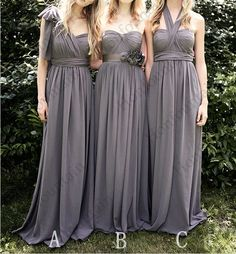grey bridesmaid dresses Long prom dresses cheap by HonFountain, $99.00