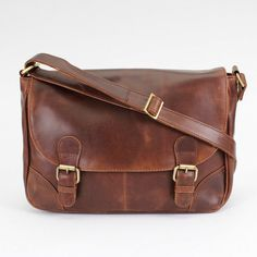 Leather Satchel /Messenger Bag /Handbag by TheLeatherStore on Etsy