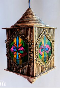 How to make Newspaper Lantern - The Handmade Crafts