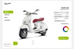 Vespa - Responsive Redesign on Behance