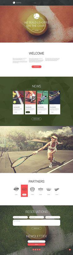 Tennis Club #website #template. #themes #business #responsive #websitethemes