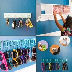 Design details can make a huge difference in your mudroom. Use a jewelry rack to get your sunglasses lined up, add a memo board or bulletin board to the mix and make sure you have hooks for your keys. #partner