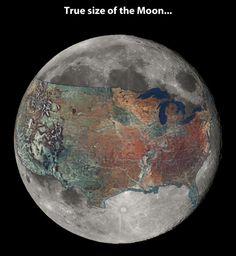 Moon size.
