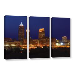 Cleveland 15 by Cody York 3 Piece Gallery-Wrapped Canvas Set