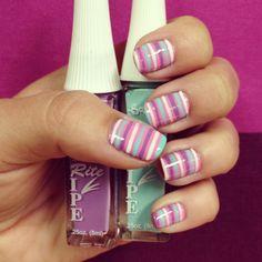 Stripes (Stripe Rite - White, Aqua and Periwinkle)