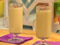 Vanilla, Almond and Cocoa Latte recipe from Geoffrey Zakarian via Food Network