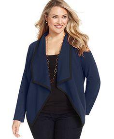 4583e76f6ea NY Collection Plus Size Jacket