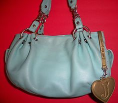 Juciy Couture Baby Blue Leather Tote Hobo Shoulder Bag Handy | eBay